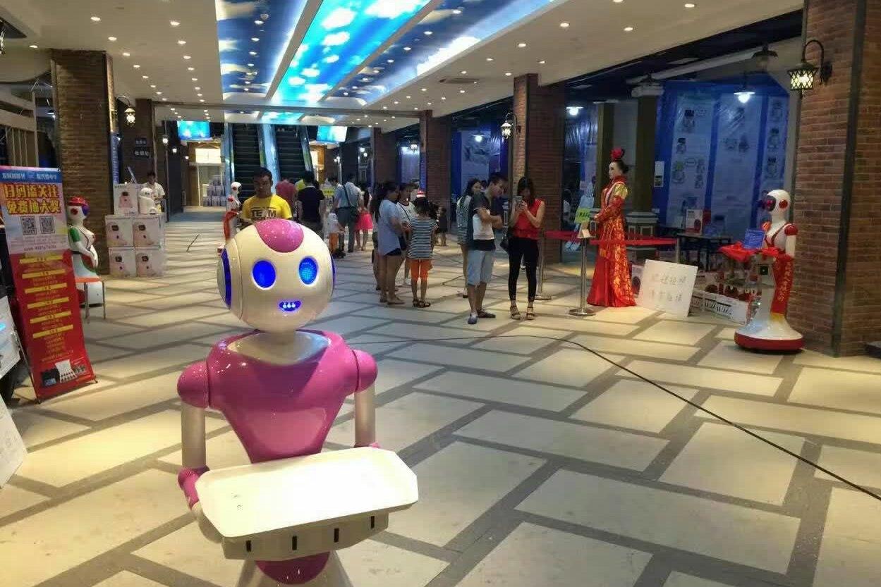 中国首界机器人表演赛!紫妹出征